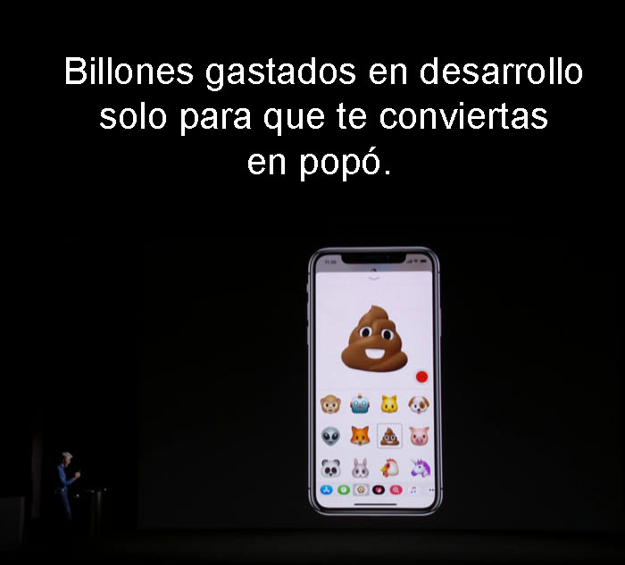 reacciones iphone x