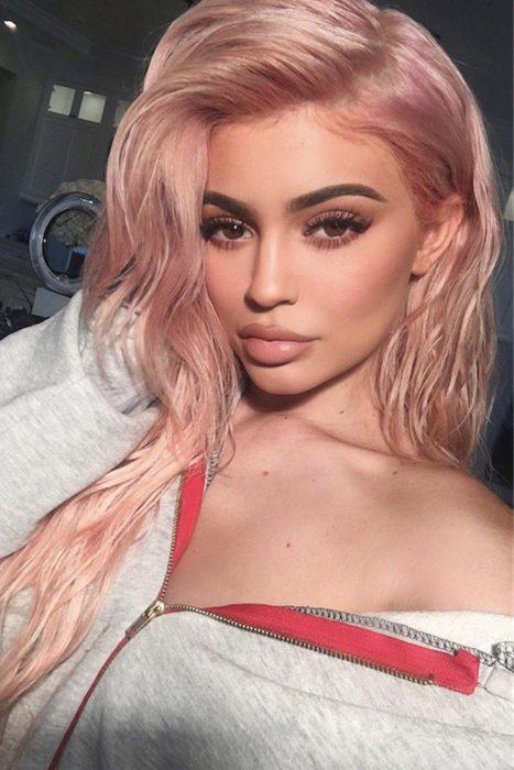 rosa gold tono de cabello