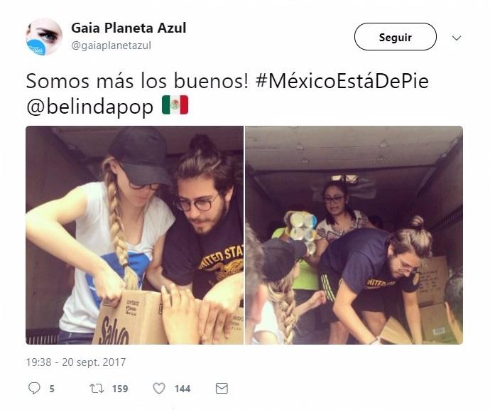 chicos apoyando en sismo
