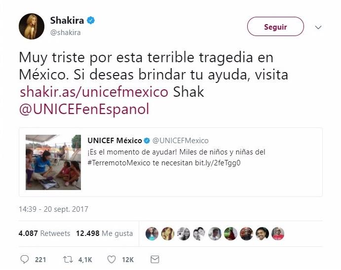 Tuit de Shakira