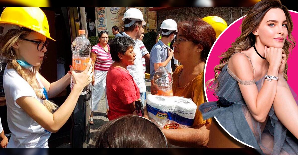 Belinda está ayudando a las victimas del sismo en México; Internet aplaude su hazaña