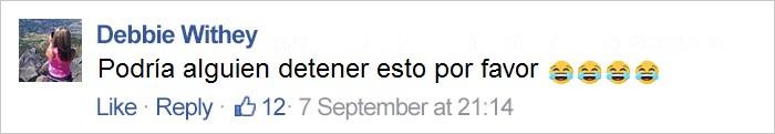 comentario en facebook sobre cejas McDonald