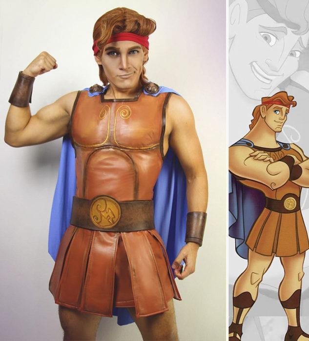 Chico disfrazado como Hercules