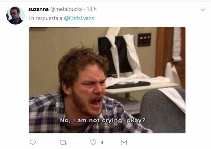 comentario en Twitter chico llorando