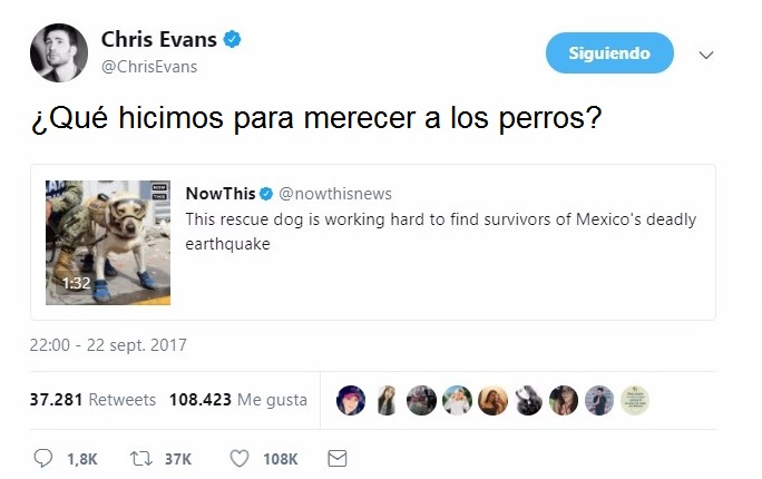 tuit de Chris Evans