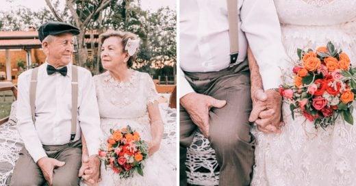 Esta pareja no tenía fotos del día de su boda; 60 años después decidieron recrearlas