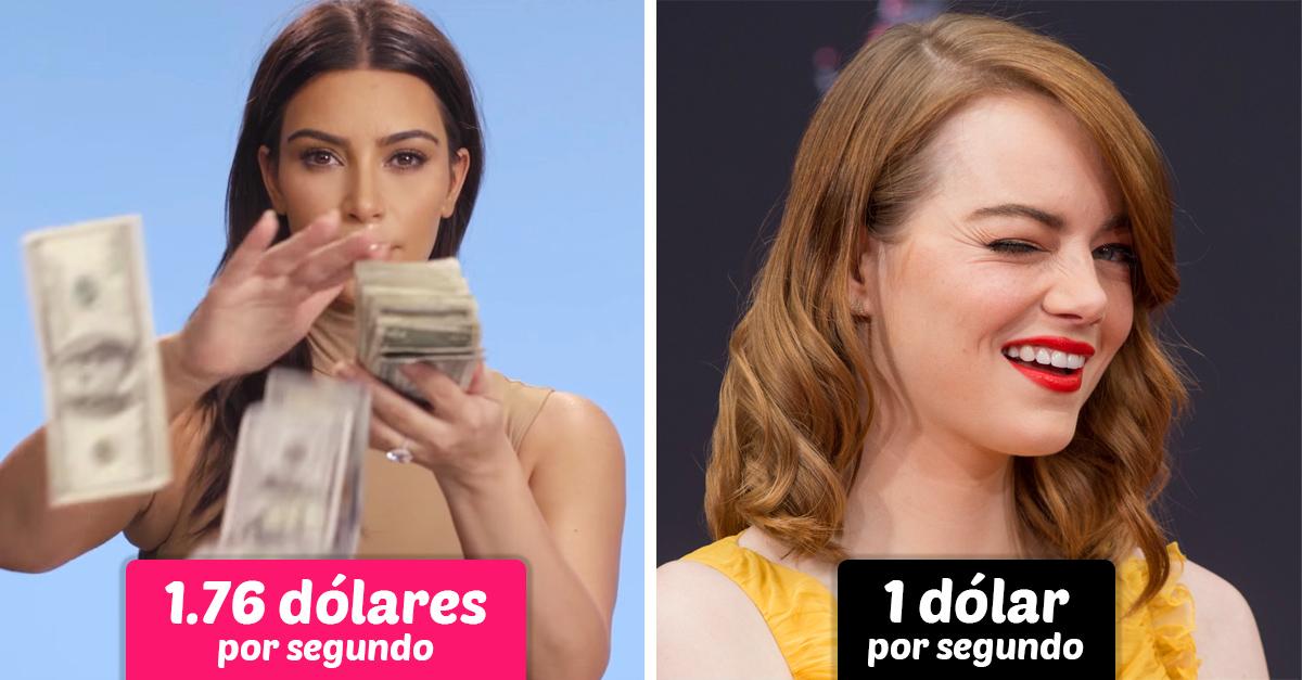 Esta es pequeña cantidad de dólares que ganan las celebridades por segundo