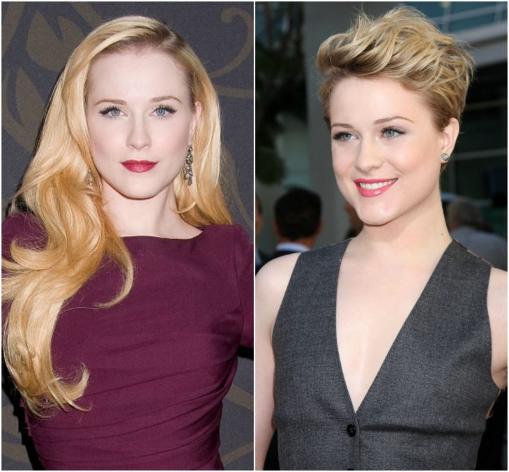 Evan Rachel Wood cabello largo vs corto