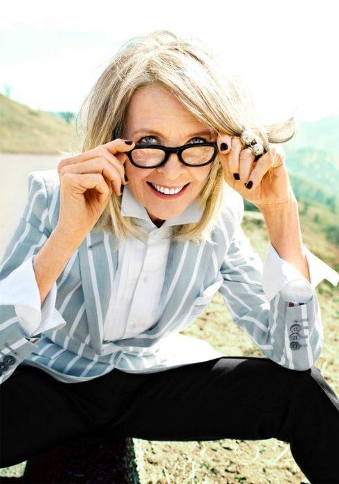 señora con gafas
