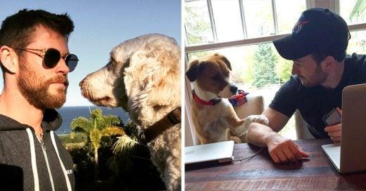 15 Famosos que han compartido en sus redes sociales cuánto aman a sus perros