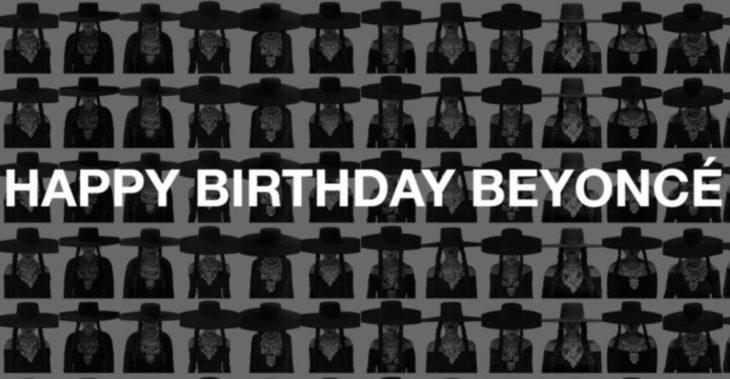 Felicitación a beyoncé por su cumpleaños