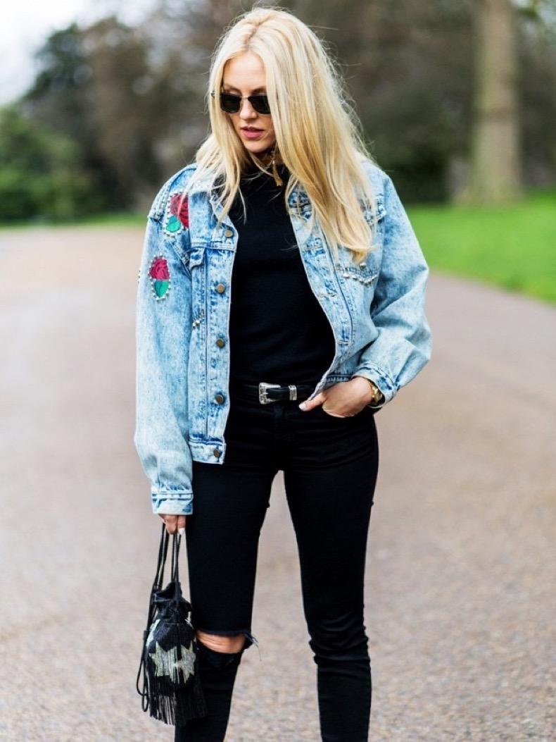 Compra chaqueta de mezclilla de encaje online al por mayor