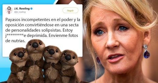 J.K. Rowling esta triste y sus fans le envían encantadoras fotos en Twitter
