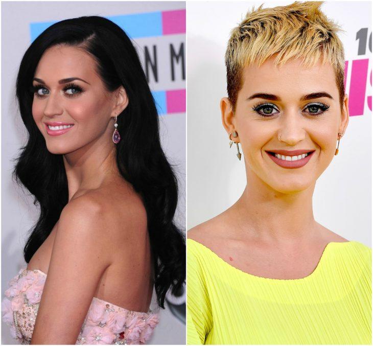 Katy Perry cabello largo vs corto