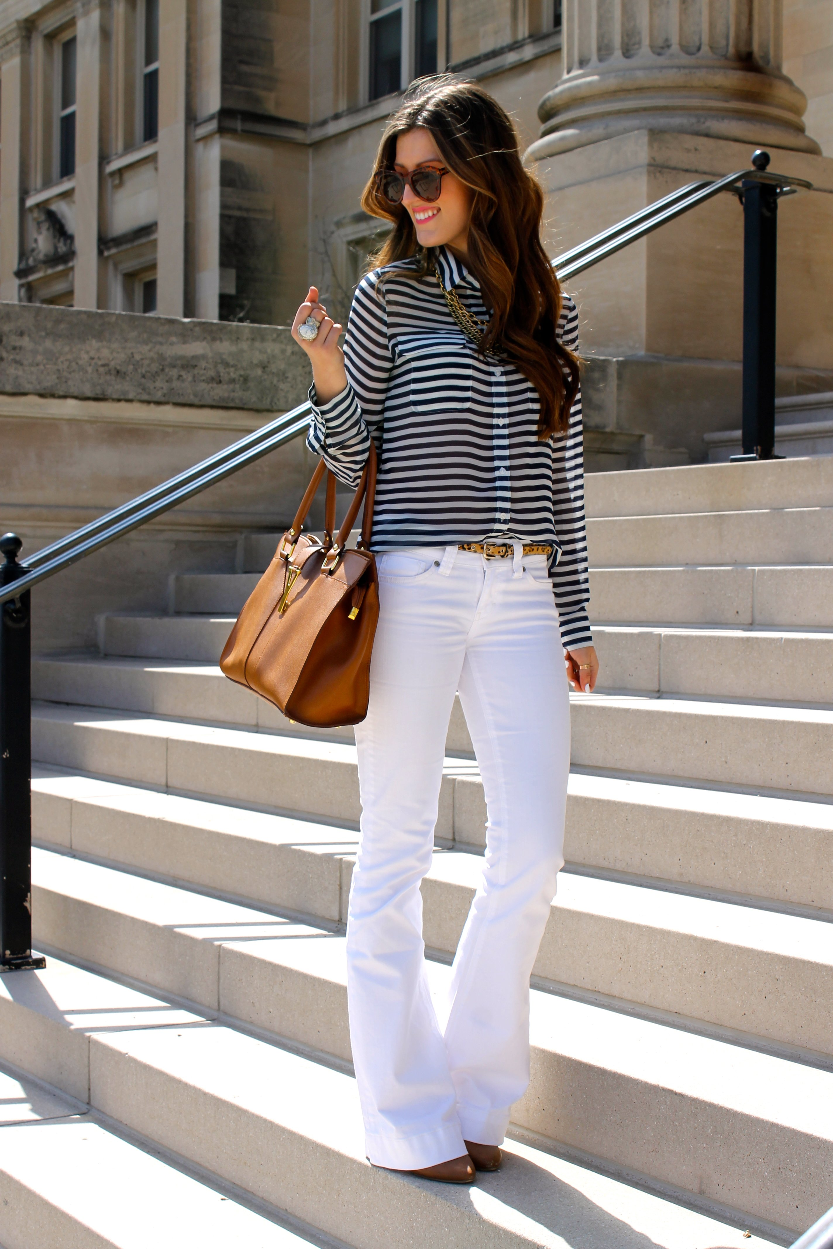25 Formas De Llevar Unos Jeans Blancos De La Manera Correcta