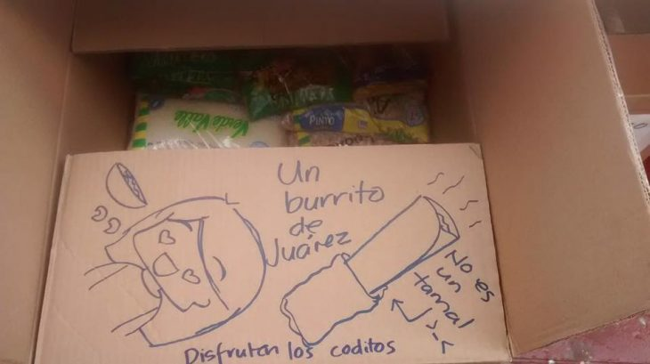 Caja de carton con dibujos