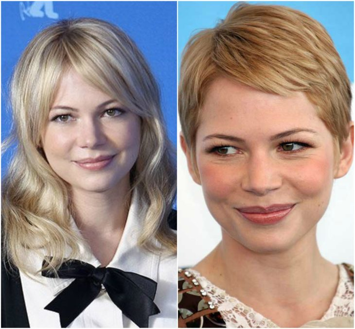 Michelle Williams cabello largo vs corto