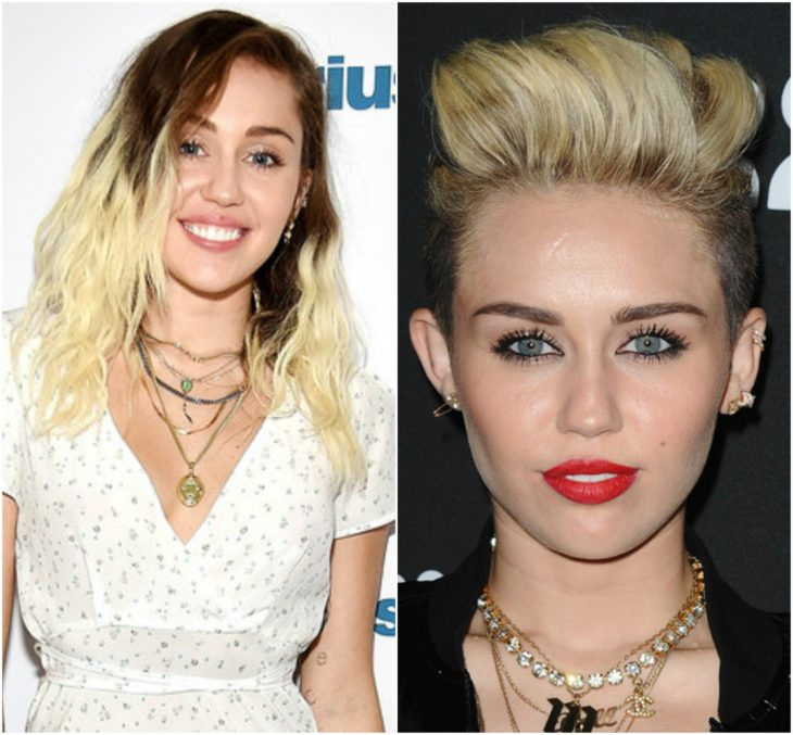 Miley Cyrus cabello largo vs corto