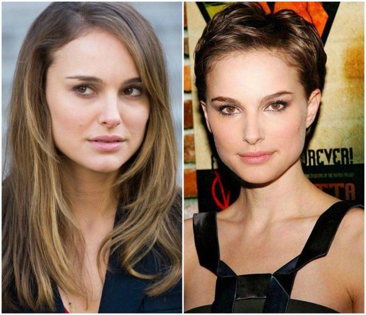 Natalie Portman cabello largo vs corto