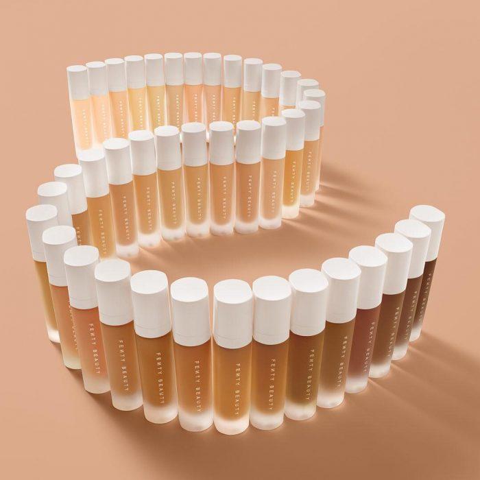 Tonos de maquillaje de la línea de belleza de Rihanna