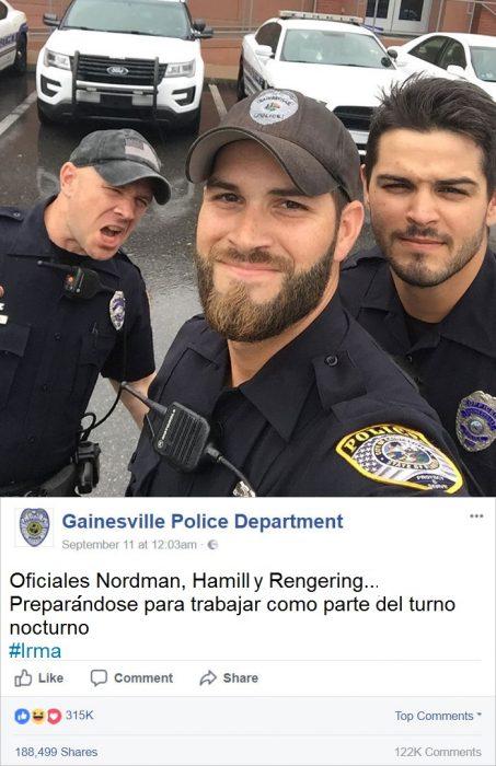selfie de policias