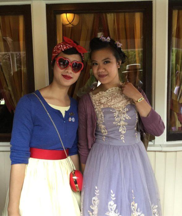 chicas disfrazadas de princesas Disney