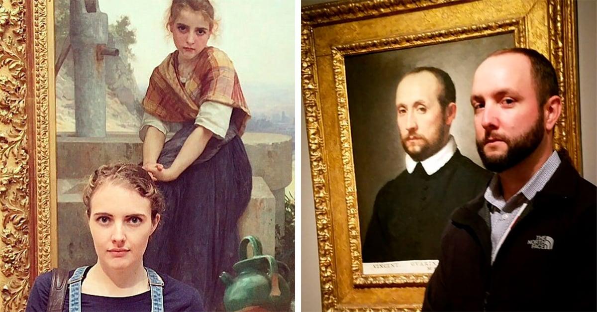 Personas que encontraron a su doble en museo