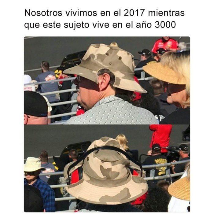 HOMBRE USANDO GORRAS