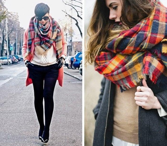 chicas usando bufanda sgrandes