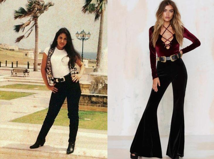 Comparación ropa de selena en el pasado y la ropa actual