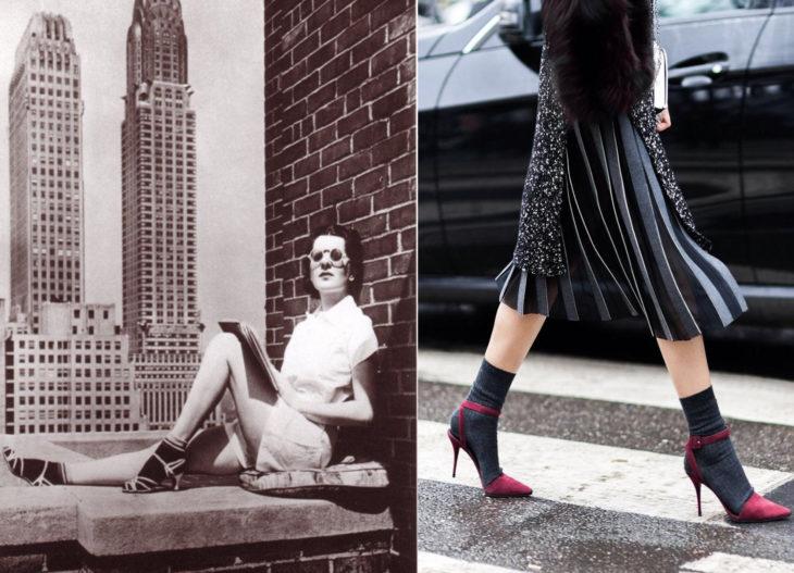 Moda de los años 40 vs moda actual