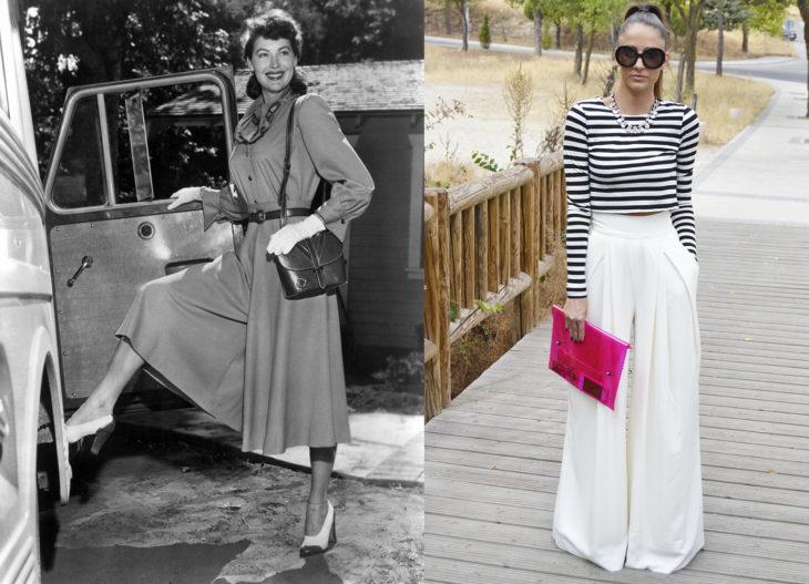Moda de los años 50 vs moda actual