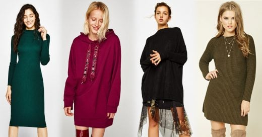 15 Vestidos suéter que querrás comprar esta temporada otoñal