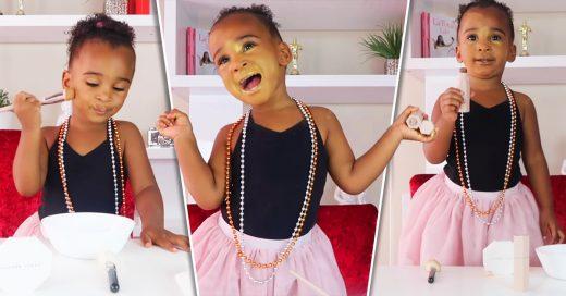 Esta pequeña tiene 2 años y ya es una famosa Youtuber de belleza