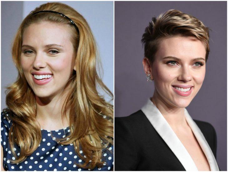 Scarlett Johansson cabello largo vs corto
