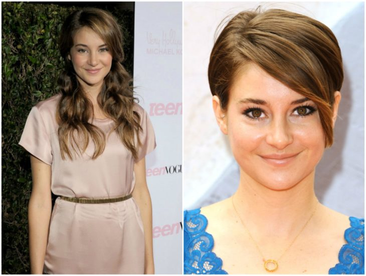 Shailene Woodley cabello largo vs corto
