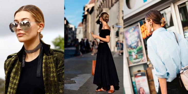 Peinado kardashian que está dominando el street style