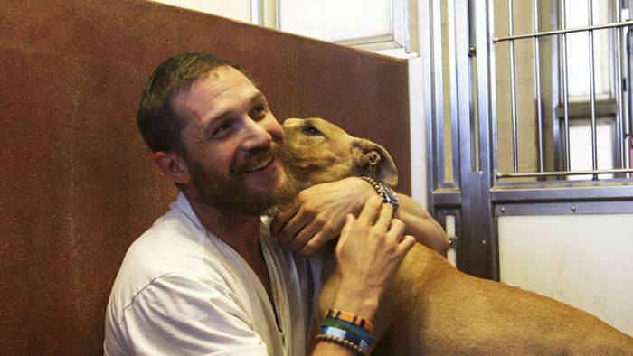 chico besando a su perro en la mejilla