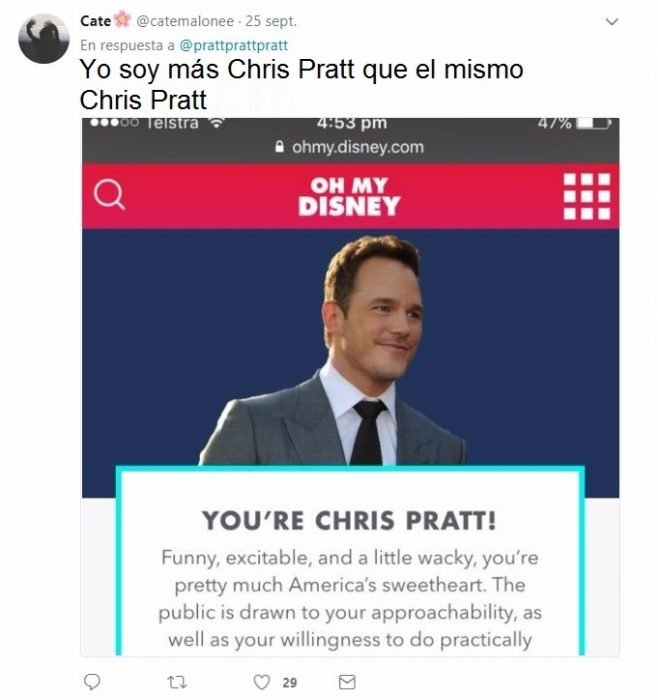 tuit de chris pratt