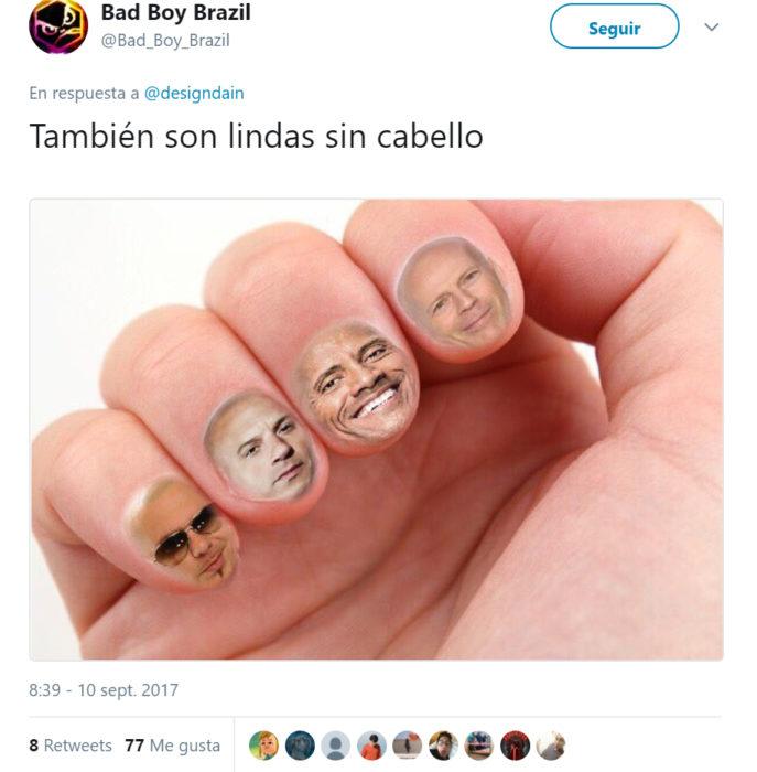 Comentarios en Twitter sobre las uñas de una chica