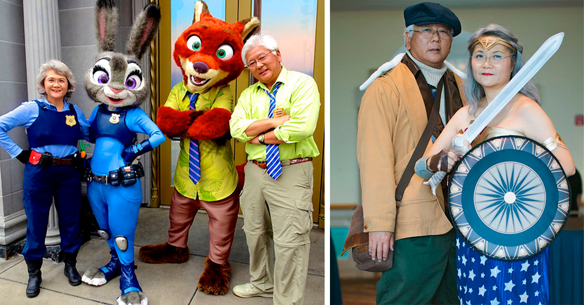 Esta pareja de abuelitos se han convertido en amantes del cosplay