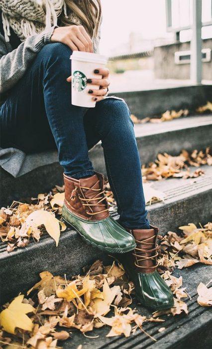 botas verde esmeralda