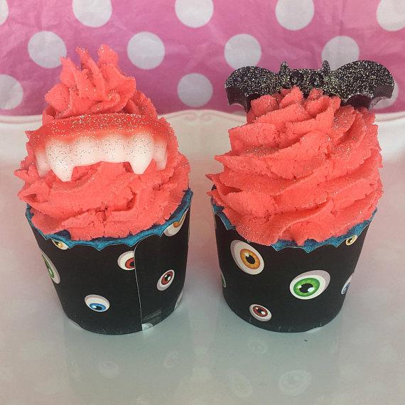 muffins anaranjados con dientes