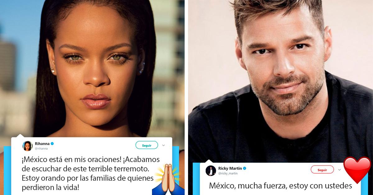 Los famosos que han mostrado solidaridad con México luego del sismo