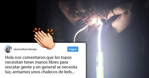 Esta diseñadora mexicana está creando chalecos con luz led para los rescatistas; Internet no deja de aplaudir su hazaña