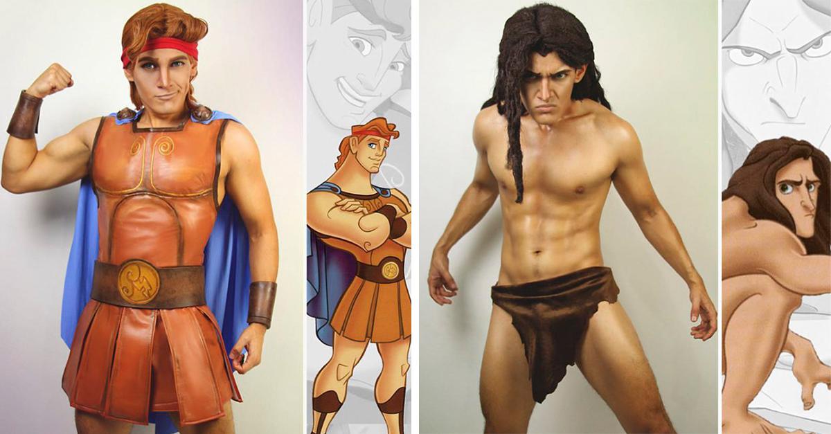 Este cosplayer puede convertirse en cualquier personaje de Disney