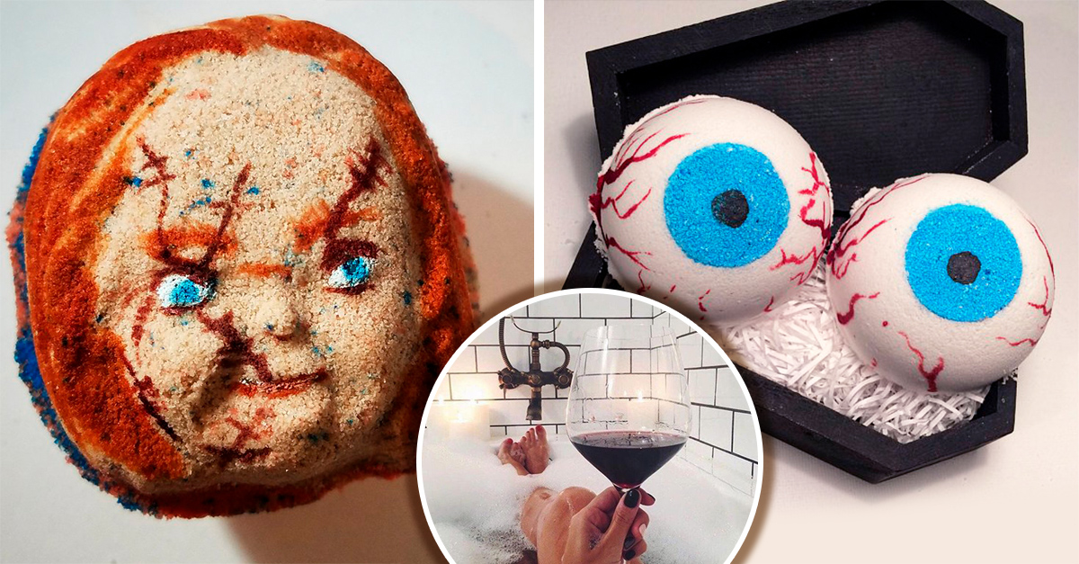 15 Explosivos diseños de sales de baño con las que te puedes relajar en casa este Halloween