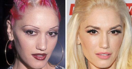 15 Sorprendentes antes y después de las cejas de las famosas