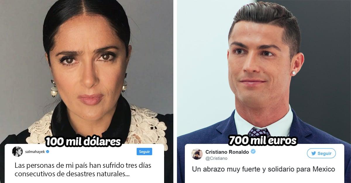 15 Celebridades que ayudaron a México con sus donaciones