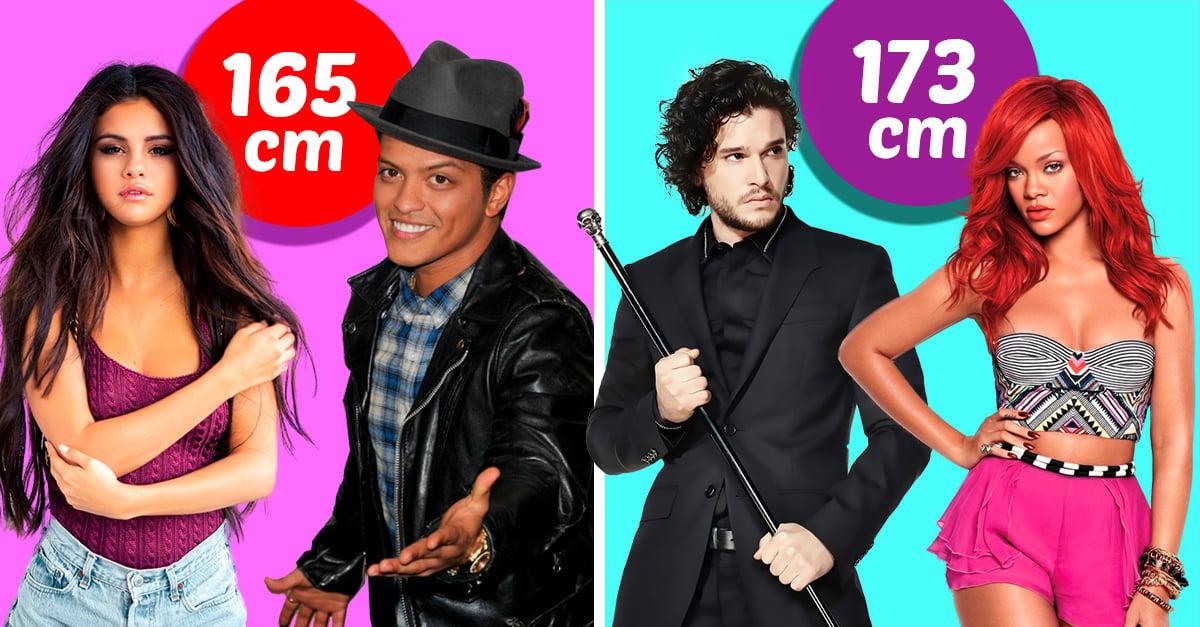Parejas de famosos que comparten la misma estatura